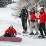 Schifahren und Snowboarden auf der Grebenzen
